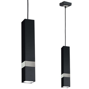 Czarna Lampa Wisząca Vidar Black/Chrome 1x Gu10 small 0