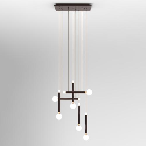 Brązowa Lampa Wisząca Laon LED