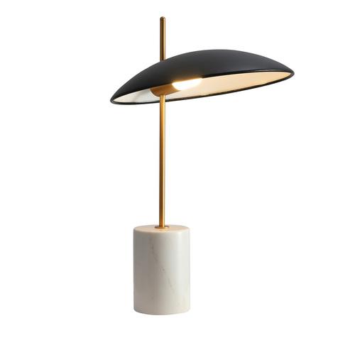Czarna Lampka na biurko Vilai LED