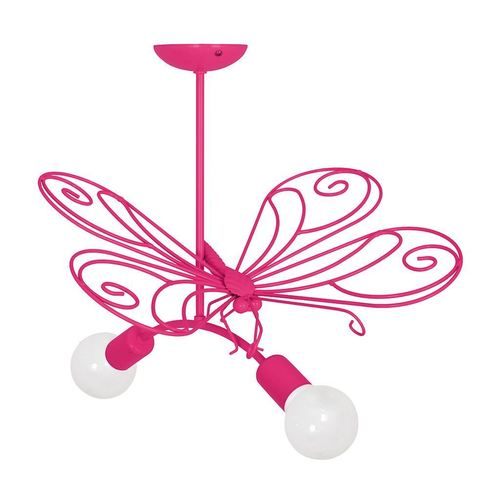 Różowy Żyrandol Motyl 2 Dark Pink 2x E27
