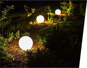 Kula świecąca elektryczna - Flexi Ball Electric 30 cm z kablem i żarówką small 1
