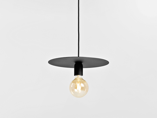 Lampa wisząca SKIVA L - czarny