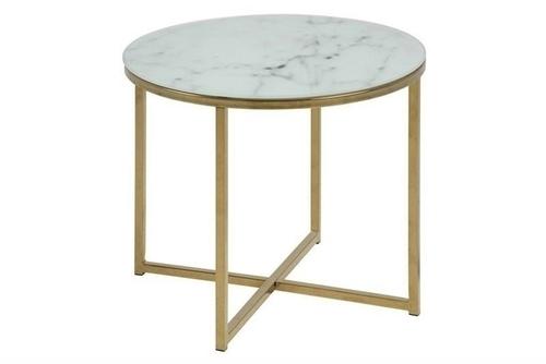 ACTONA stolik ALISMA 50 - szkło, złota podstawa