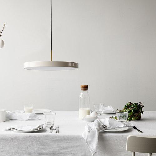 Lampa wisząca UMAGE Asteria biała perła Ø 43