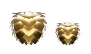 Lampa wisząca UMAGE Aluvia mosiądz szczotkowany Ø59