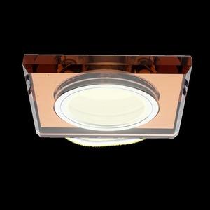 Oczko Sufitowe Szklane Kwadratowe. Kolor: Bursztyn small 7