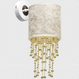 Kinkiet Almeria White/Gold 1x E27 small 7