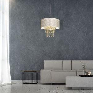 Lampa Wisząca Almeria White/Gold 1x E27 small 4