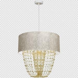 Lampa Wisząca Almeria White/Gold 1x E27 small 7
