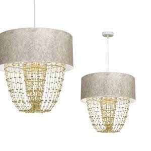 Lampa Wisząca Almeria White/Gold 1x E27 small 0