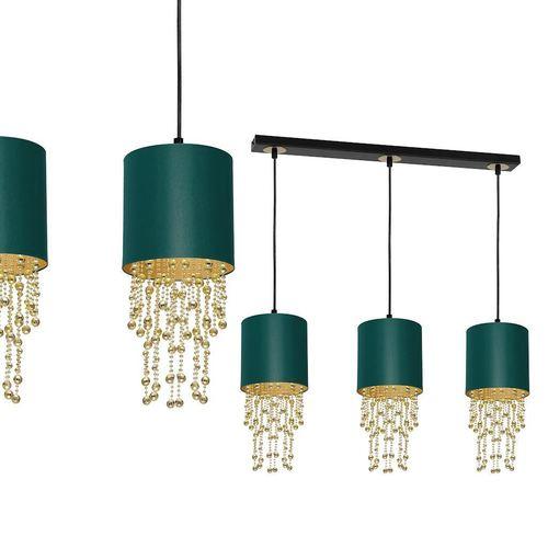Lampa Wisząca Almeria Green/Gold 3x E27