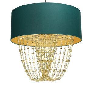 Lampa Wisząca Almeria Green/Gold 1x E27 small 3
