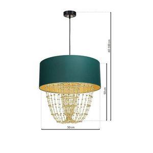 Lampa Wisząca Almeria Green/Gold 1x E27 small 6