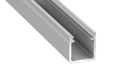 Profil Aluminiowy Czarny Typ Y 2m + Klosz Mleczny