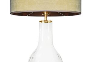 Lampa szklana stołowa Famlight Alor Transparent oliwkowy / brązowy E27 60W handmade small 1