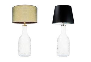 Lampa szklana stołowa Famlight Alor Transparent oliwkowy / brązowy E27 60W handmade small 3