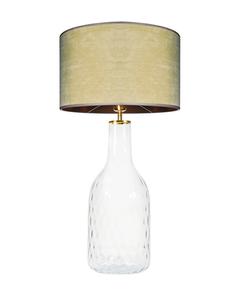Lampa szklana stołowa Famlight Alor Transparent oliwkowy / brązowy E27 60W handmade small 0