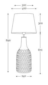 Lampa handmade Famlight Alor Transparent czarny / srebrny E27 60W przezroczysta butelka small 4