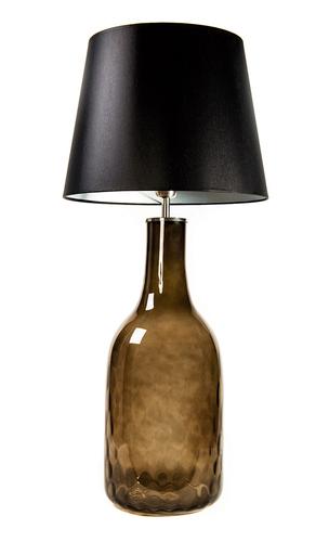 Lampa butelka Famlight Alor Grey czarny / srebrny E27 60W handmade