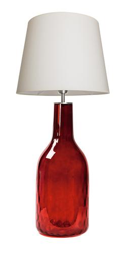 Lampa szklana Famlight Alor Ruby kremowy / biały E27 60W produkcja ręczna