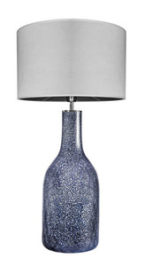 Dekoracyjna lampa stołowa Famlight Alor Black Sky Matt szary E27 60W handmade small 0