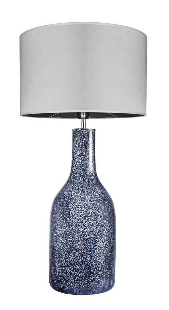 Dekoracyjna lampa stołowa Famlight Alor Black Sky Matt szary E27 60W handmade