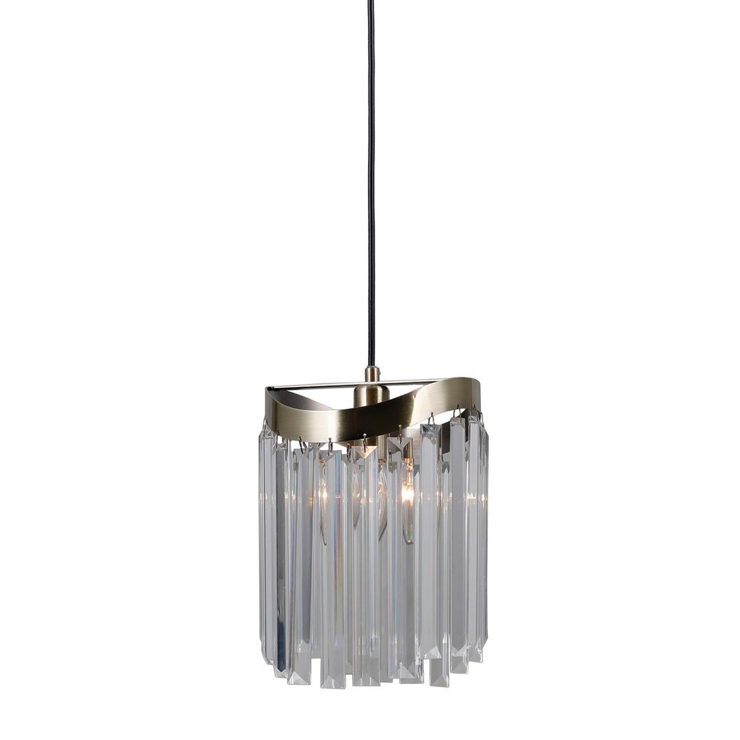 Brązowa Lampa Wisząca Sabriga E14