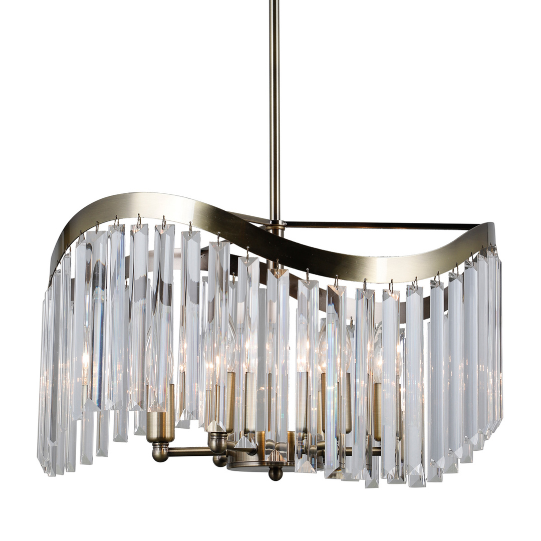 Brązowa Lampa Wisząca Sabriga E14 6-punktowa