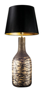 Lampa stołowa z abażurem Famlight Alor black & Gold Shiny E27 60W small 0