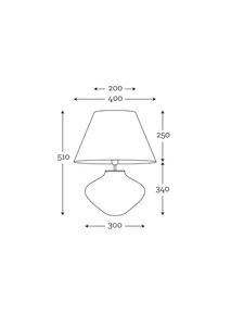 Lampka na komodę Bali Transparent Szary / Biały Famlight E27 60W handmade small 3