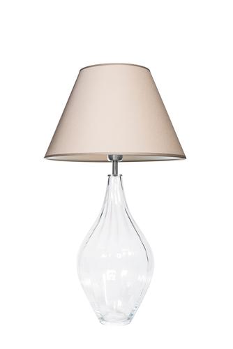 Lampa stołowa szklana Borneo Optic Transparent Famlight beżowy / biały E27 60W