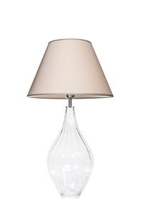 Lampa stołowa szklana Borneo Optic Transparent Famlight beżowy / biały E27 60W small 0