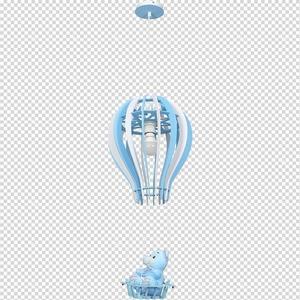 Lampa Wisząca Balonik Blue 1x E27 60 W small 7