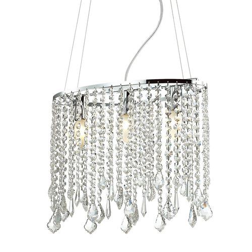 Klasyczna Lampa Wisząca z Kryształkami Kaas E14 3-punktowa