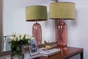 Elegancka lampa stołowa Chloe Lister Brown MALEDIVES E27 60W produkcja ręczna small 2
