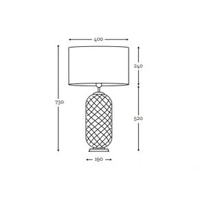 Elegancka lampa stołowa Chloe Lister Brown MALEDIVES E27 60W produkcja ręczna small 4