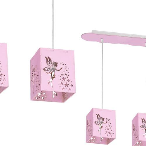 Lampa Wisząca Fairy Pink 3x E27 60 W