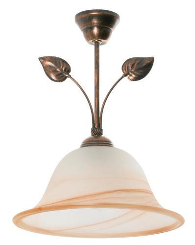 Klasyczna Lampa Wisząca Czarny + Miedź