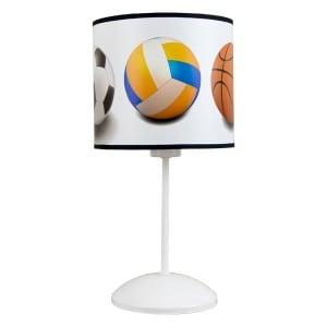 Lampa biurkowa 1-pł. CHILD dziecięca Biała w piłki