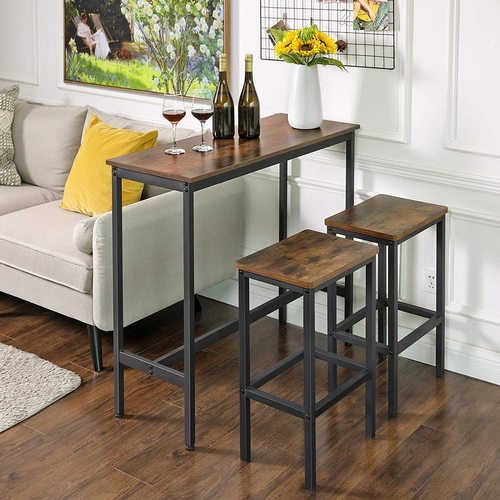 Stół barowy loft rustyklany brąz LBT10X