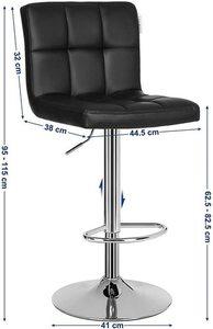 Krzesło barowe regulowane LJB64B small 3