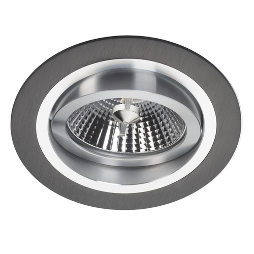 Czarny Downlight Alcazar z Chromem 140.BC