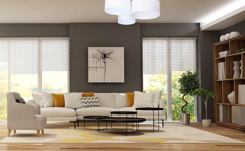 Lampy sufitowa okrągła - Plafon Elements 60W E27 biały