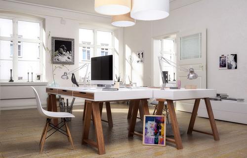 Lampa plafon Elements 60W E27 kremowy / biały / beżowy do biura, welur