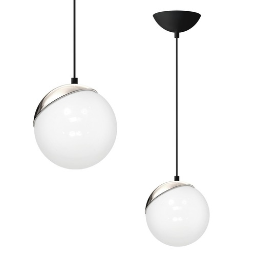Lampa Wisząca Sfera Black/Chrome 1x E27 60 W