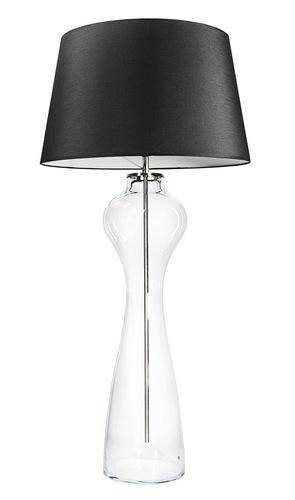 Duża lampa stołowa Famlight Havana L Transparent E27 60W grafitowy / biały