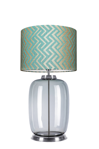 Desingerska lampa stołowa Laut Table Famlight Stone Blue E27 60W handmade