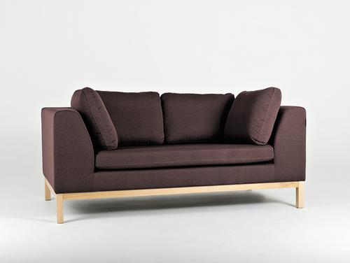 Sofa AMBIENT WOOD 2 os. - hematyt(ml69), naturalny
