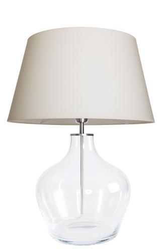 Lampa stołowa nowoczesna Famlight Madeira Transparent kremowy / biały E27 60W