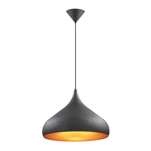 Czarna Lampa Wisząca Juan E27